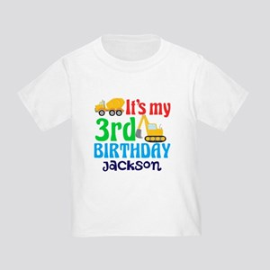 3rd Birthday Construction Toddler T Shirt