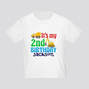 2nd Birthday Construction Toddler T-Shirt
