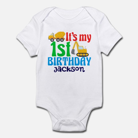 1st Birthday Construction Infant Bodysuit