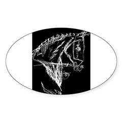 Dark Horse Oval Decal