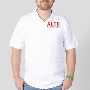 All Stars Transparent Red Golf Shirt