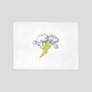 Thunder and Lightning 5'x7'Area Rug