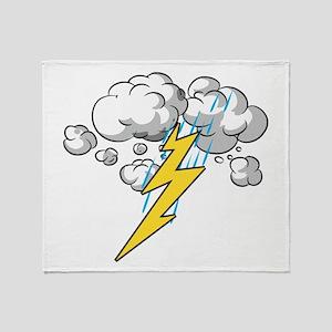 Thunder and Lightning Throw Blanket