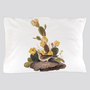 Bay Winged Bunting Vintage Audubon Art Pillow Case