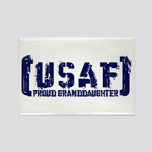Proud USAF Grnddhtr - Tatterd Style Rectangle Magn