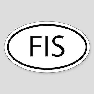 FIS Oval Sticker