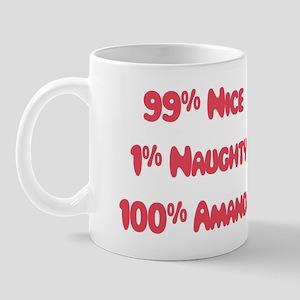 Amanda - 1% Naughty Mug