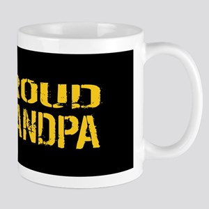 U.S. Army: Proud Grandpa (Black & Gold) Mug