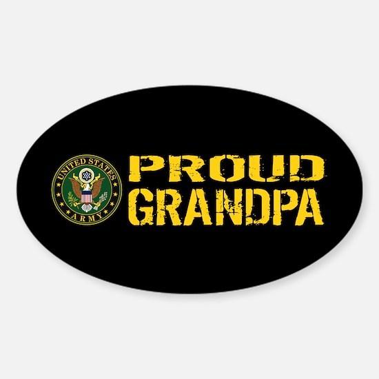 U.S. Army: Proud Grandpa (Black & G Sticker (Oval)