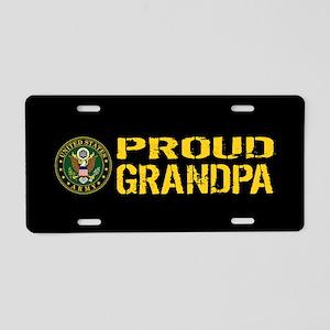 U.S. Army: Proud Grandpa (B Aluminum License Plate