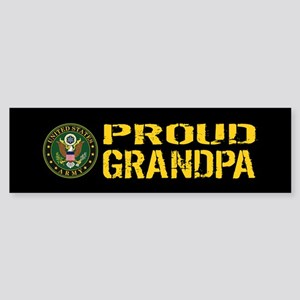 U.S. Army: Proud Grandpa (Black & Sticker (Bumper)