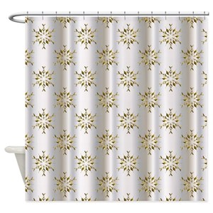 Gold Silver Pattern Shower Curtains