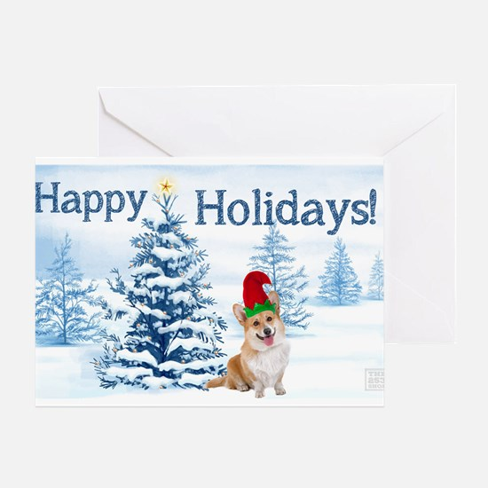 Corgi Happy Holidays Greeting Cards