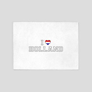 I Love Holland 5'x7'Area Rug
