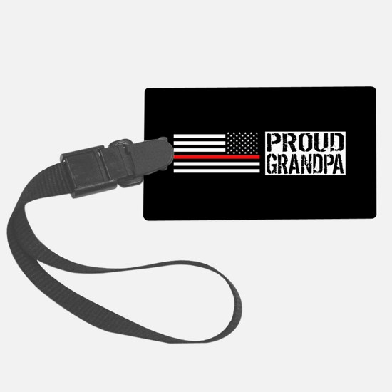 Firefighter: Proud Grandpa (Blac Luggage Tag