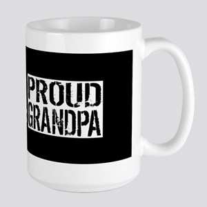 Firefighter: Proud Grandpa (Black Flag, Large Mug