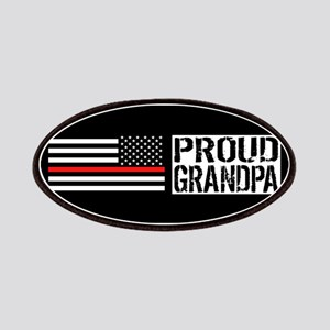 Firefighter: Proud Grandpa (Black Flag, Red Patch