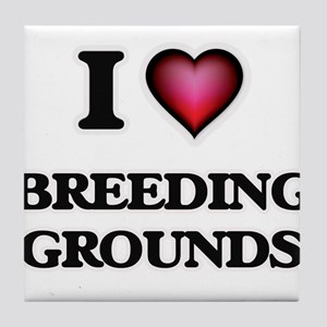 I Love Breeding Grounds Tile Coaster