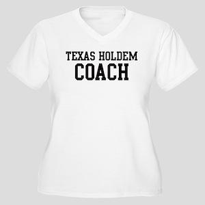 TEXAS HOLDEM Coach Women's Plus Size V-Neck T-Shir