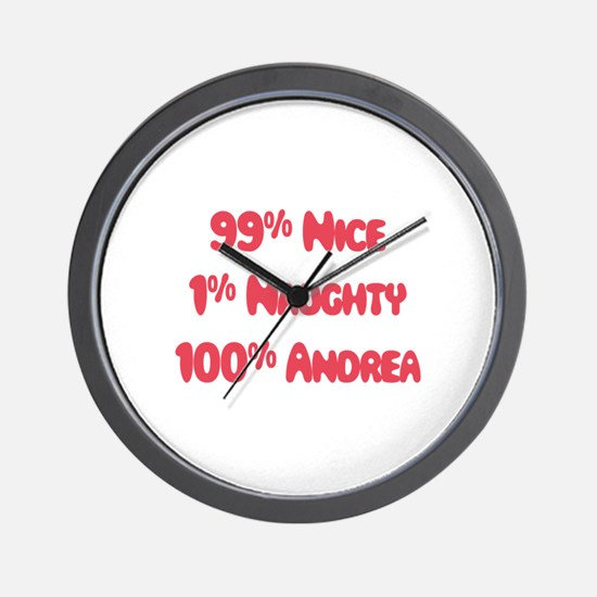 Andrea - 1% Naughty Wall Clock