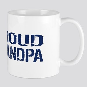 U.S. Navy: Proud Grandpa (Blue & White) Mug