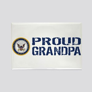 U.S. Navy: Proud Grandpa (Blue & Rectangle Magnet