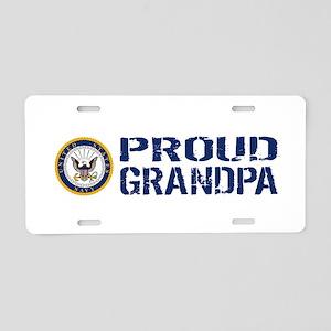 U.S. Navy: Proud Grandpa (B Aluminum License Plate