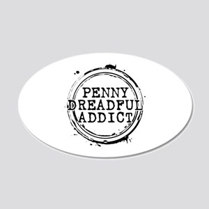 Penny Dreadful Addict Stamp 22x14 Oval Wall Peel