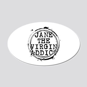 Jane the Virgin Addict Stamp 22x14 Oval Wall Peel