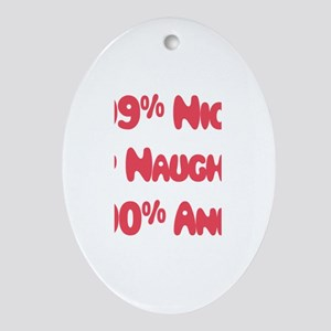 Anna - 1% Naughty Oval Ornament