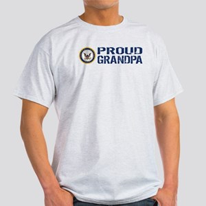 U.S. Navy: Proud Grandpa (Blue) Light T-Shirt