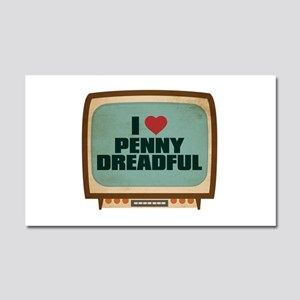 Retro I Heart Penny Dreadful Car Magnet 20 x 12