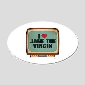 Retro I Heart Jane the Virgin 22x14 Oval Wall Peel