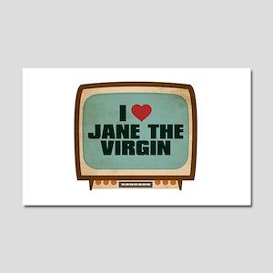 Retro I Heart Jane the Virgin Car Magnet 20 x 12