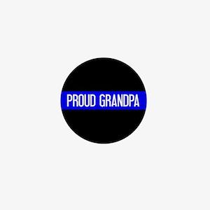 Police: Proud Grandpa (The Thin Blue L Mini Button