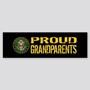 U.S. Army: Proud Grandparents (Bl Sticker (Bumper)