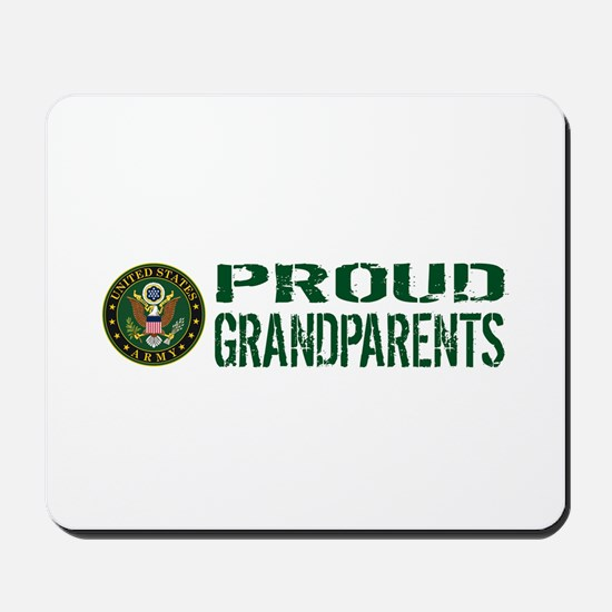 U.S. Army: Proud Grandparents (Green & W Mousepad