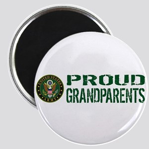 U.S. Army: Proud Grandparents (Green & Whit Magnet