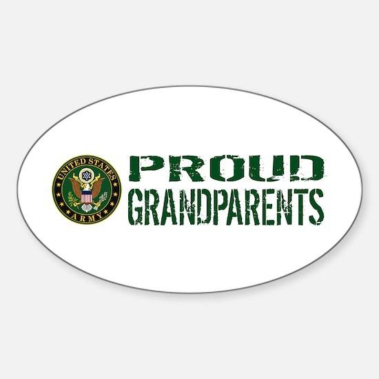 U.S. Army: Proud Grandparents (Gree Sticker (Oval)