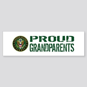 U.S. Army: Proud Grandparents (Gr Sticker (Bumper)