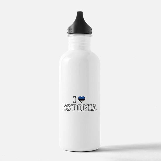I Love Estonia Water Bottle