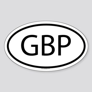 GBP Oval Sticker