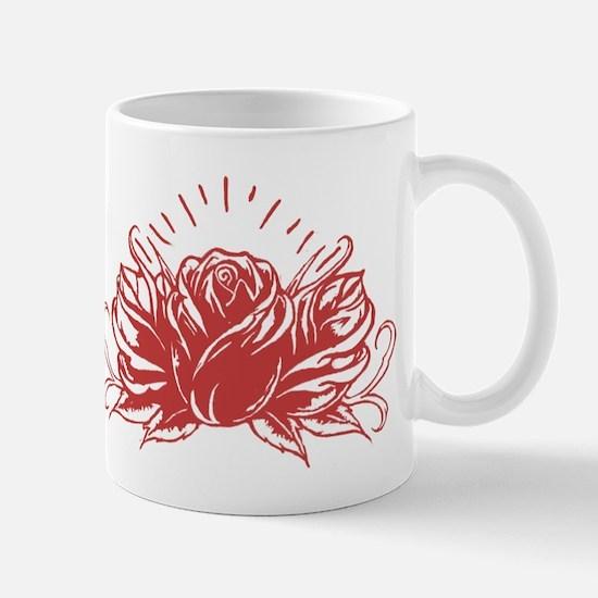 Red Rose Tattoo Mugs
