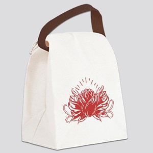 Red Rose Tattoo Canvas Lunch Bag