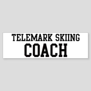 TELEMARK SKIING Coach Bumper Sticker