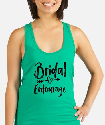 Bridal Entourage - Bride's Entourage Racerback Tan