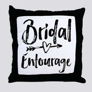 Bridal Entourage - Bride's Entourage Throw Pillow