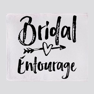 Bridal Entourage - Bride's Entourage Throw Blanket