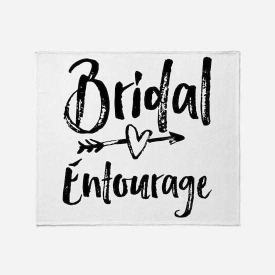 Bridal Entourage - Bride's Entourage Throw Blanket