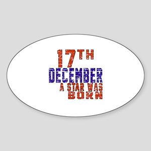 17 December A Star Was Born Sticker (Oval)